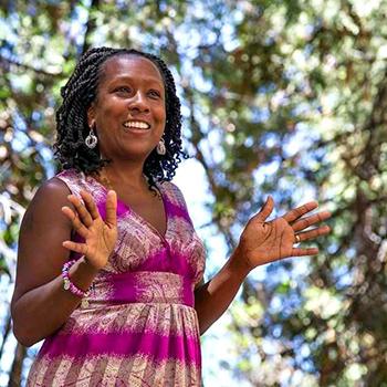 Storyteller Muriel Johnson spins tales on August 19