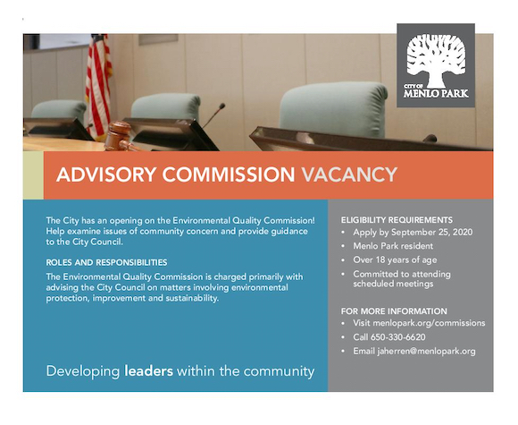 Environmental Quality Commission is seeking to fill vacant slot