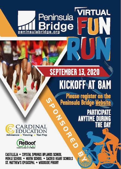 Seven local schools are joining together to support Peninsula Bridge virtual fun run
