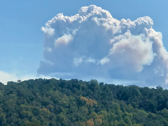 Spotted: Smokey clouds over the western hills