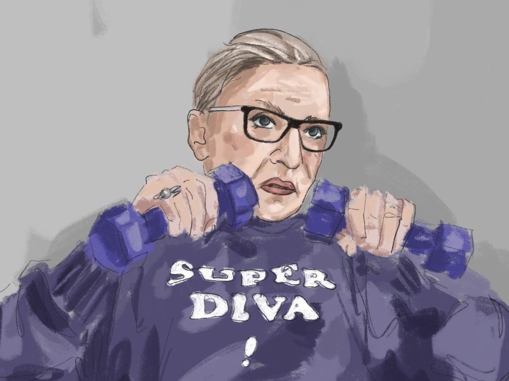 Justice Ruth Bader Ginsburg remembered by illustrator Lauren McGinnis