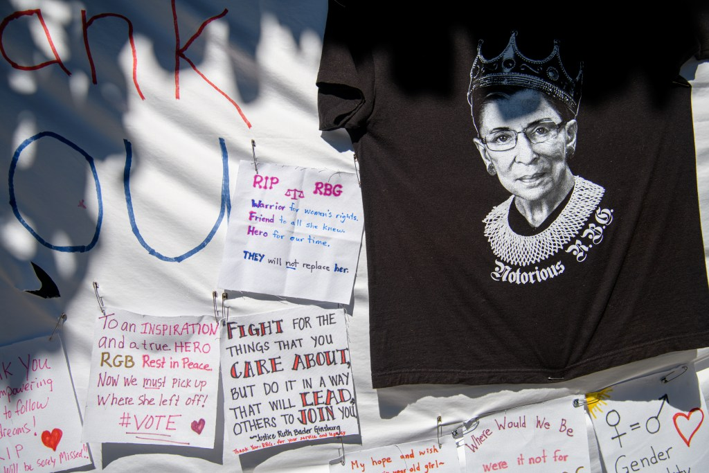 You're invited to pay your respects to Justice Ruth Bader Ginsburg right here in Menlo Park