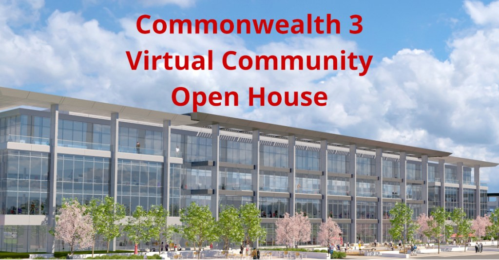 Commonwealth 3 virtual community open house set for September 9
