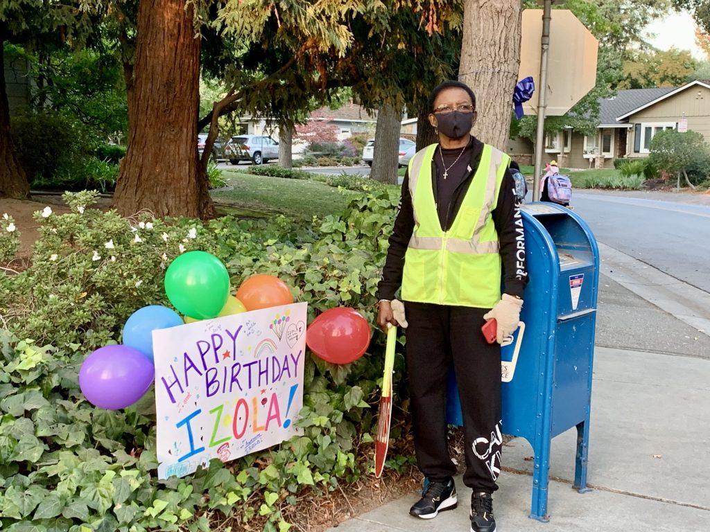 Spotted: Izola enjoying birthday wishes