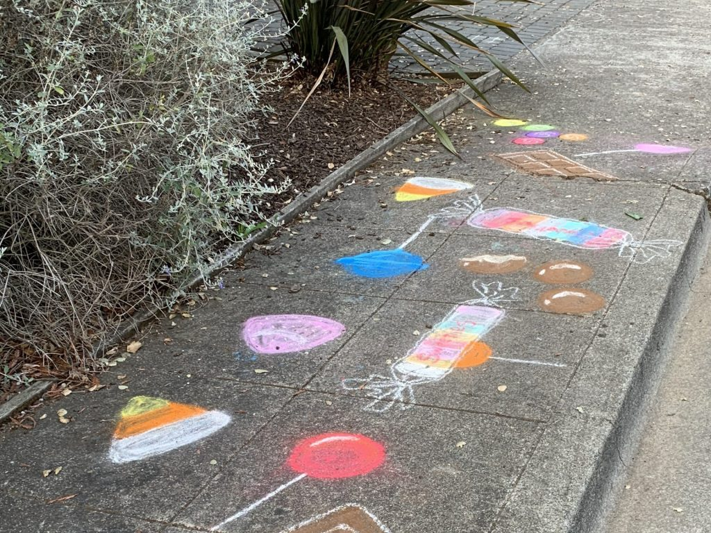 Spotted: Colorful candy chalk art in Ladera