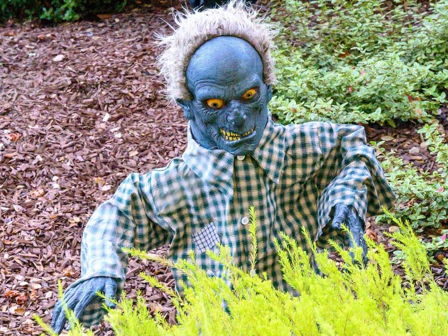 Menlo Park front yard is chock-a-block with goblins and ghouls