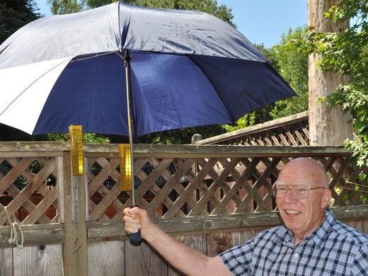 InMenlo weather watcher Bill Russ hands off the rainfall baton
