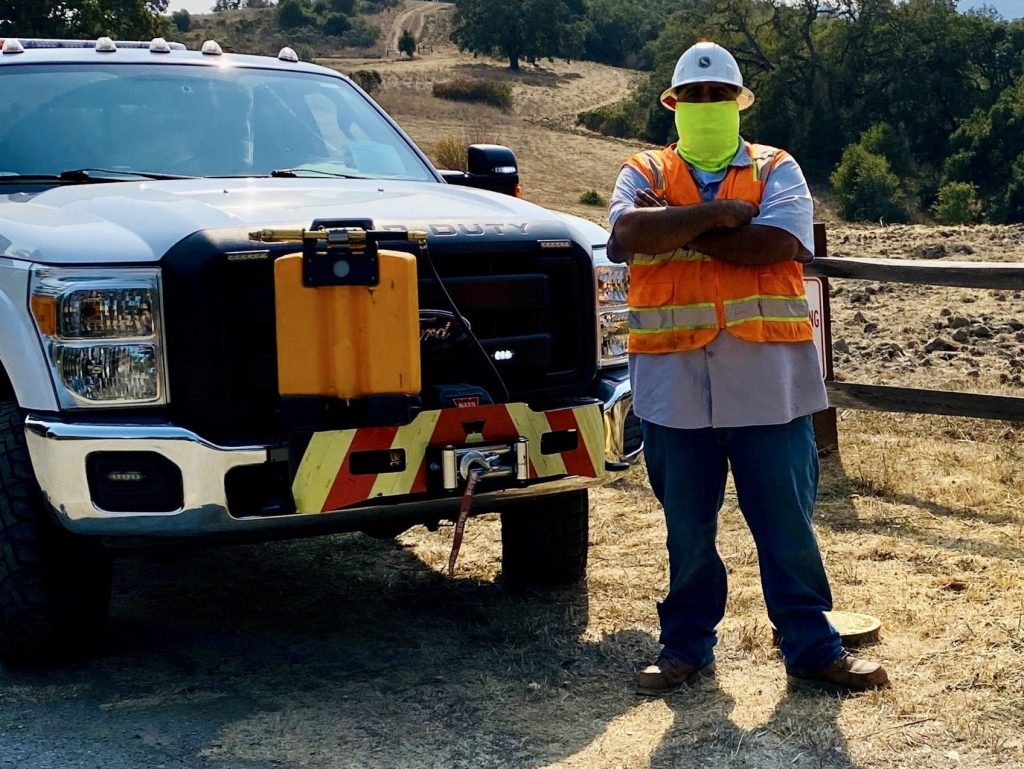 Cal Water team member helps prevent potential fire in Portola Valley