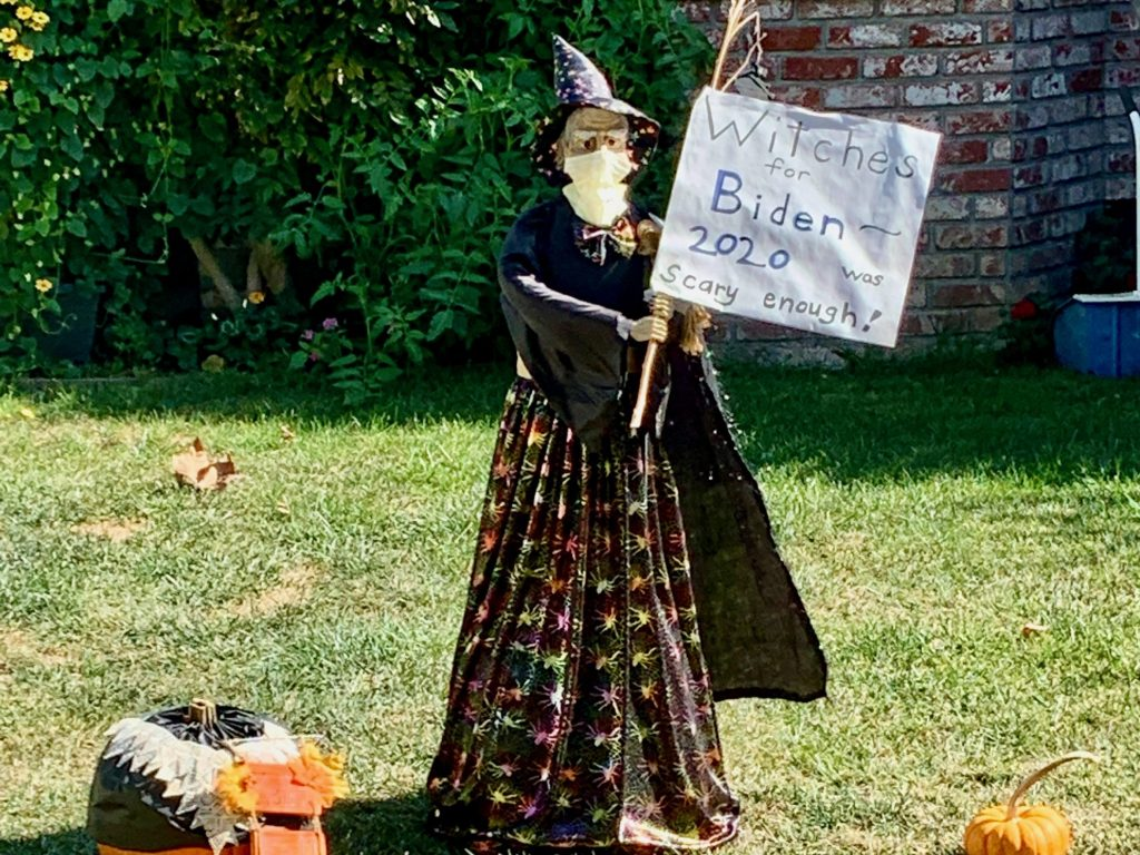 Spotted: Witches for Biden Halloween decor