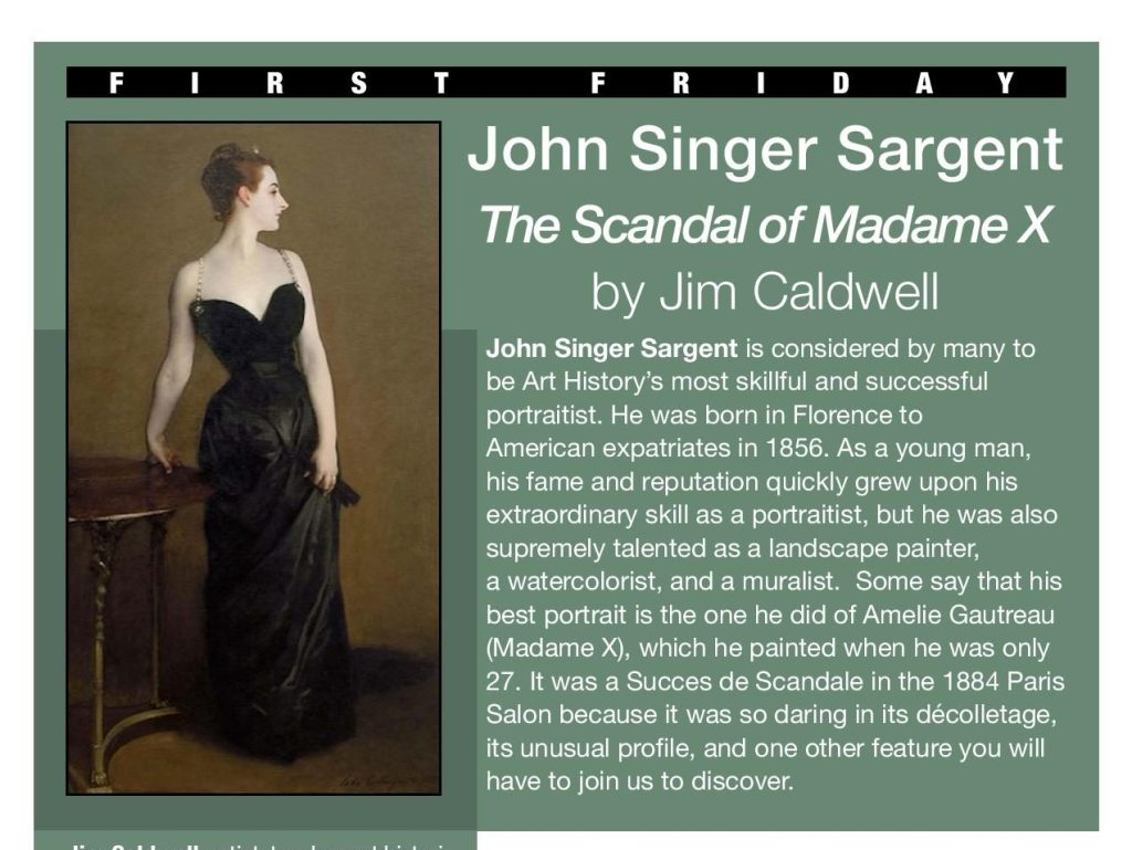 Jim Caldwell talks about John Singer Sargent at First Friday on Nov. 6