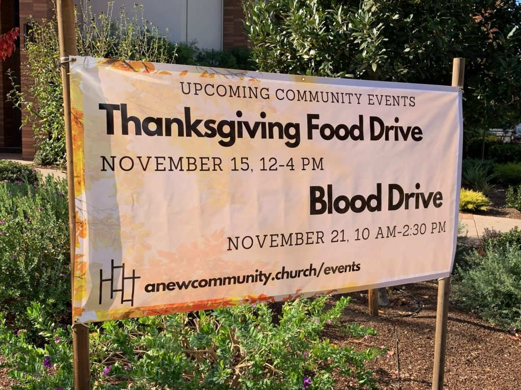 New Community Church hosts Thanksgiving Food Drive on November 15