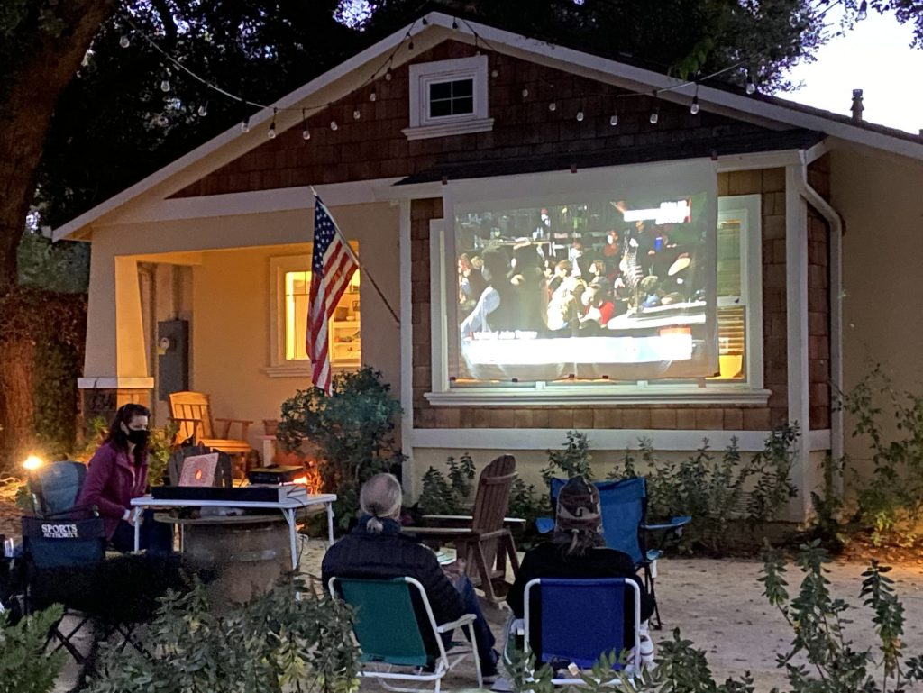 Neighborly approach to watching President-elect Biden's victory speech