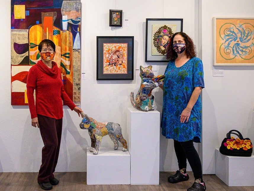 Catching up with two artists at The Main Gallery in Menlo Park