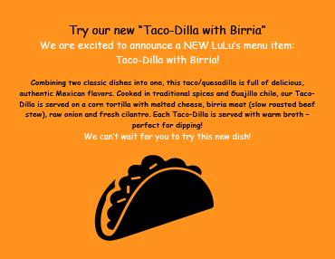 LuLus Taco Dilla