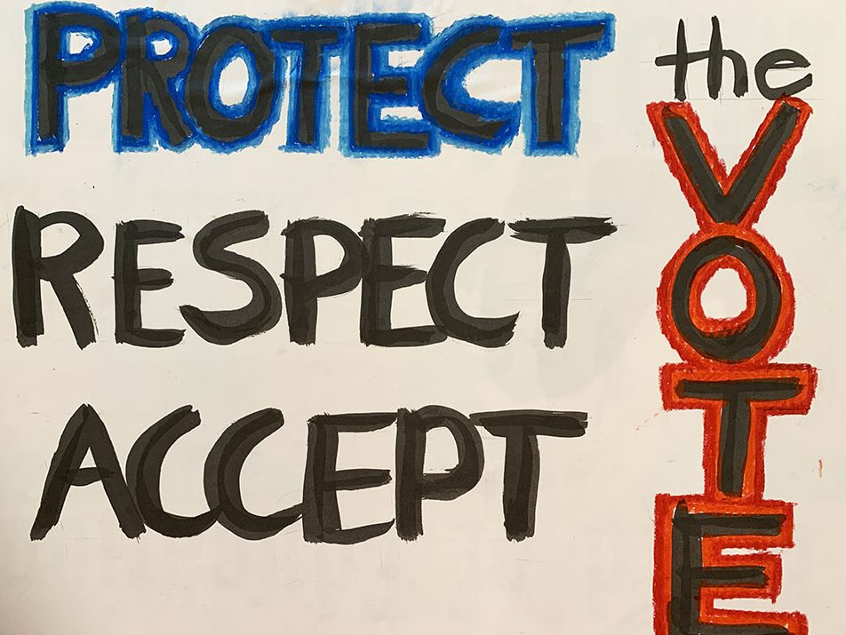 Art Ventures Gallery participating in Protect the Results march on Nov. 4