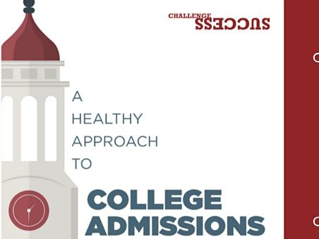 A Healthy Approach to College Admissions is topic on November 17