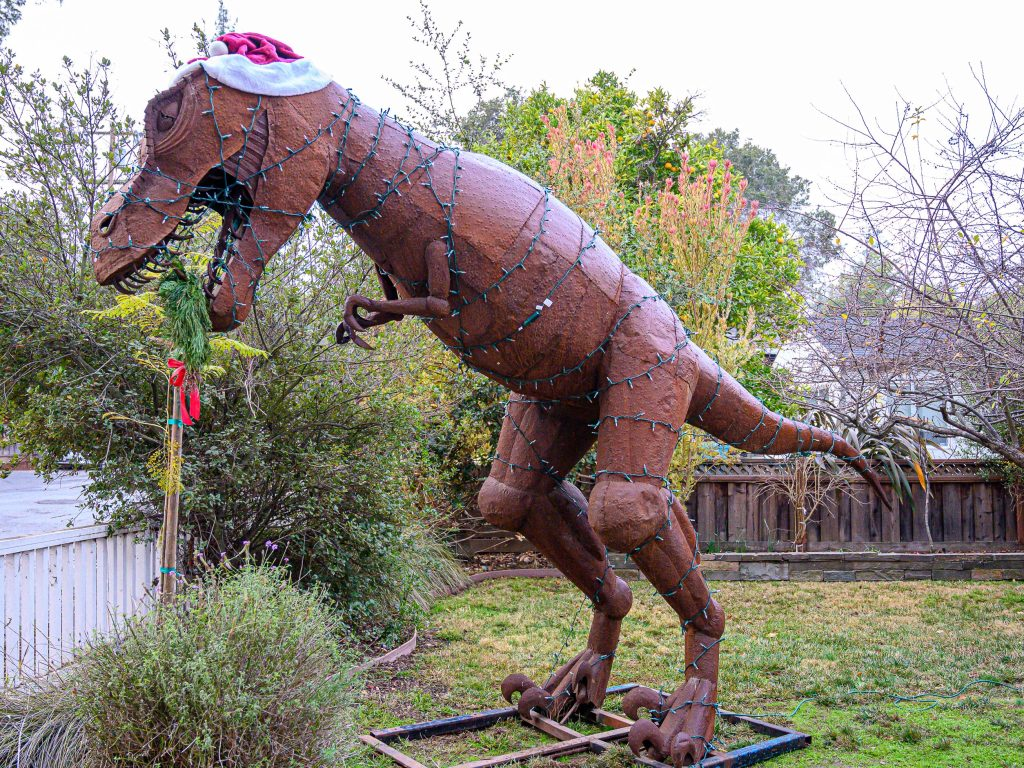 Spotted: Dino decked out for the holiday