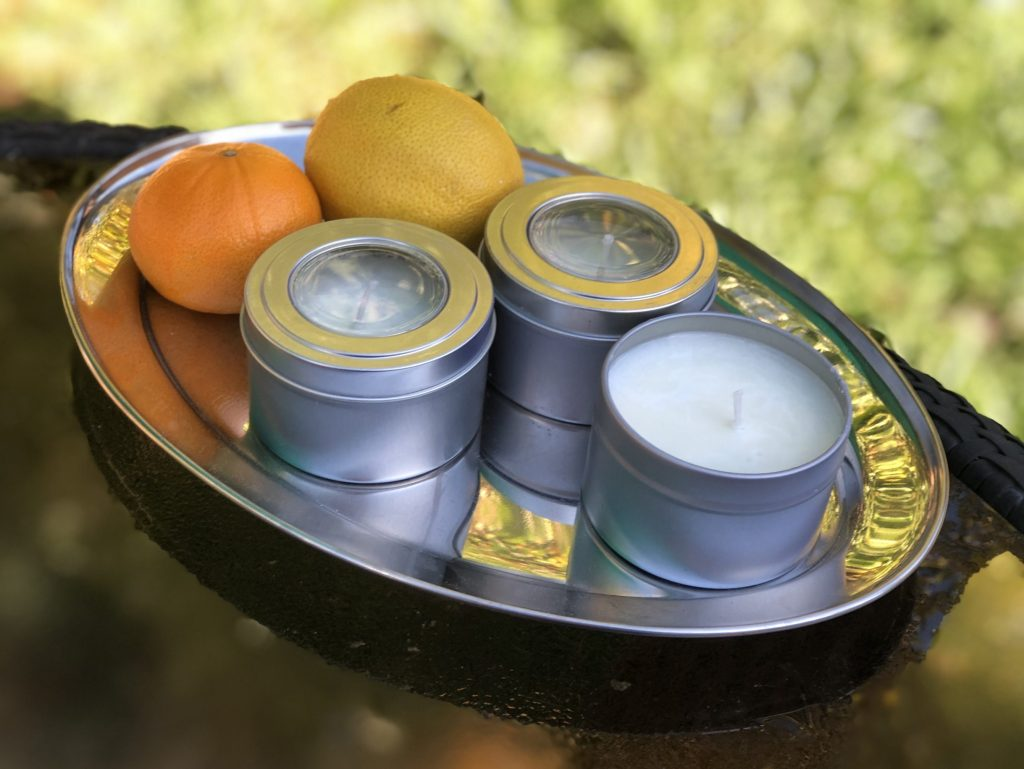 Perla Ni and son Leo are making and selling handmade organic soy candles
