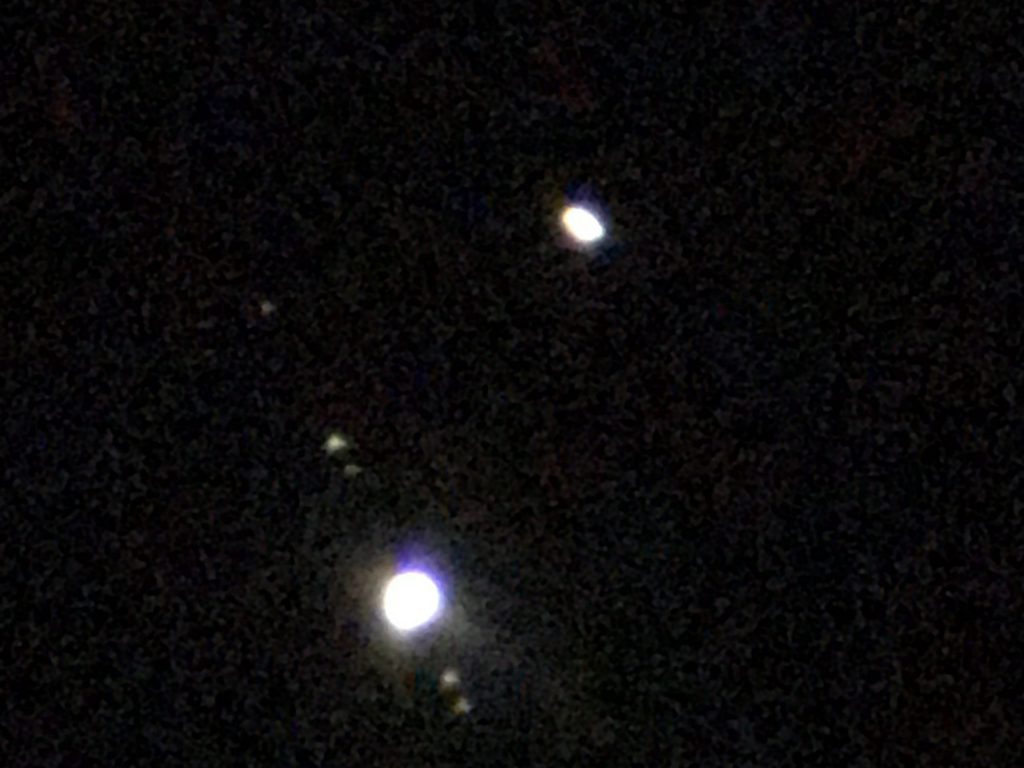 Spotted: Saturn and Jupiter close to conjunction
