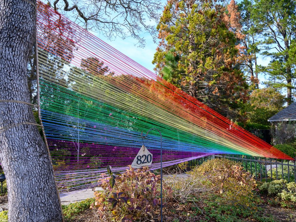Rainbow brightens up Sharon Park Drive in Menlo Park