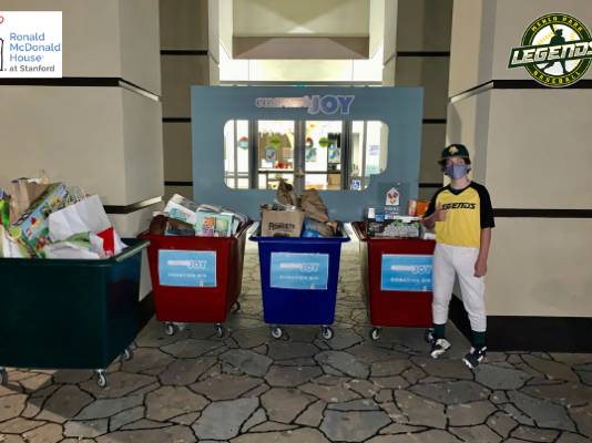Spotted: Menlo Park Legends donating gifts to Ronald McDonald House