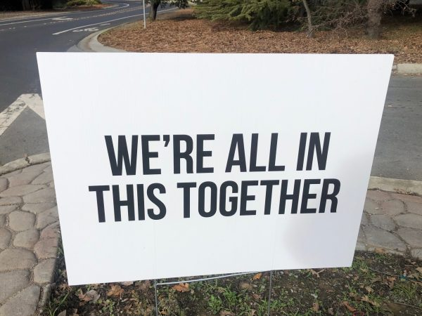 Spotted: Signs of the time – let's hang together