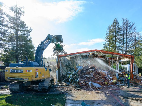 Menlo Park Fire Station 4 now just a pile of rubble