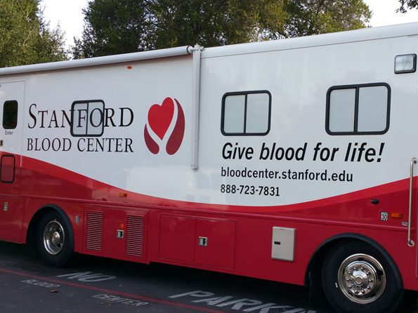 Stanford Blood Center bloodmobile will be in Menlo Park on January 29