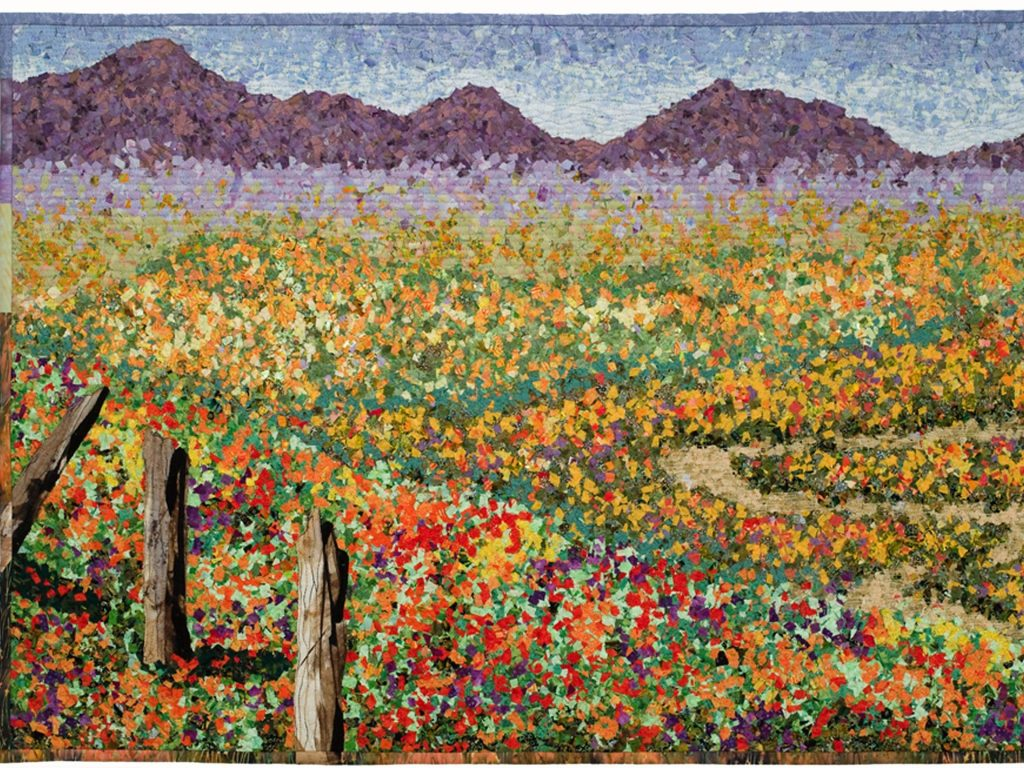 Online exhibit – Stitching California: Fiber Artists Interpret the State's People, Life, and Land begins today