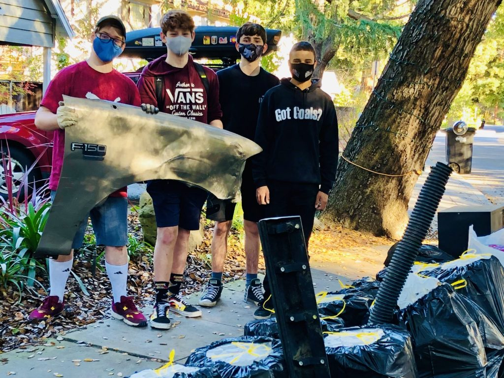 Willows family and friends clean up section of San Francisquito Creek