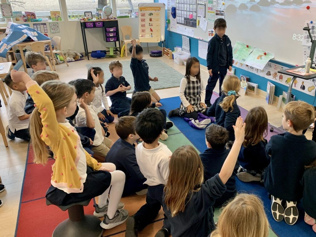 Woodland School first graders contribute poem to San Mateo County anthology