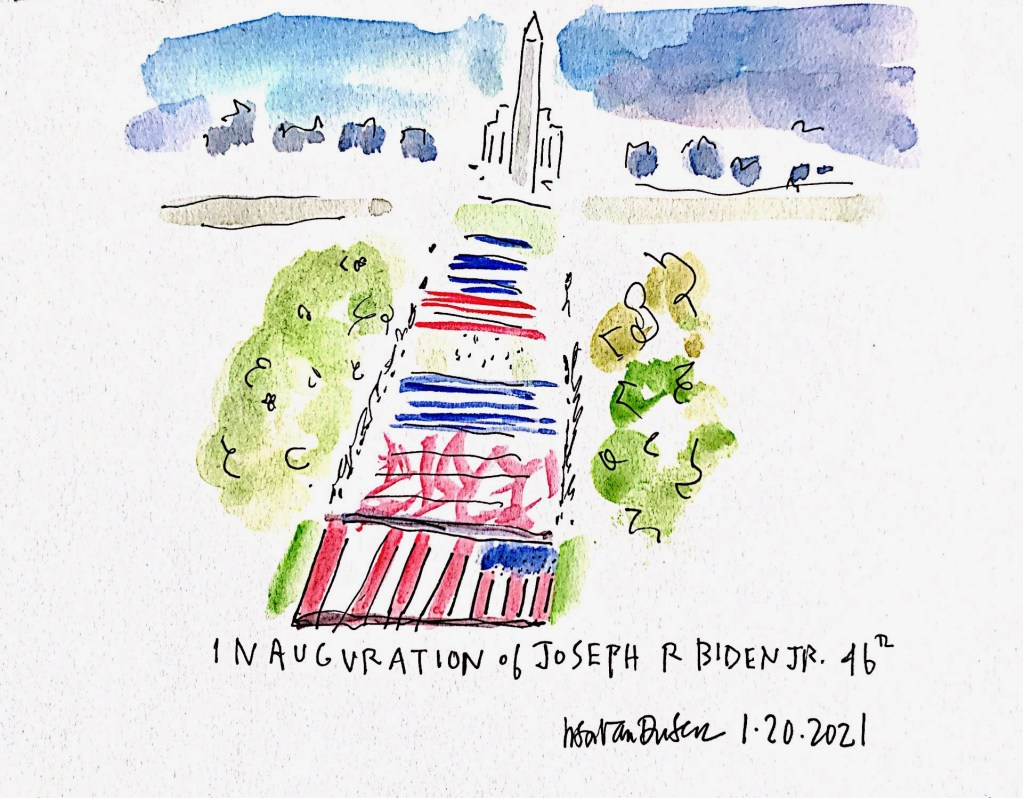 Drawings inspired by the inauguration of President Joe Biden