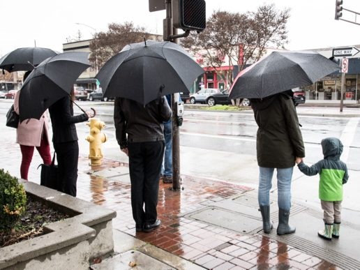 It's staying wet in Menlo Park thanks to a series of rain storms