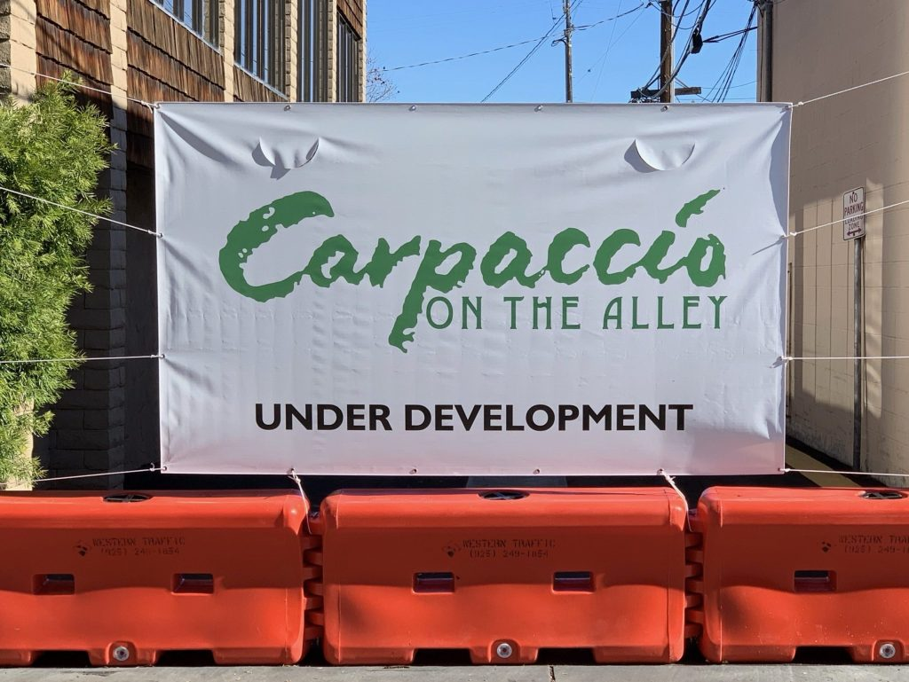 Spotted: Carpaccio On The Alley is under development