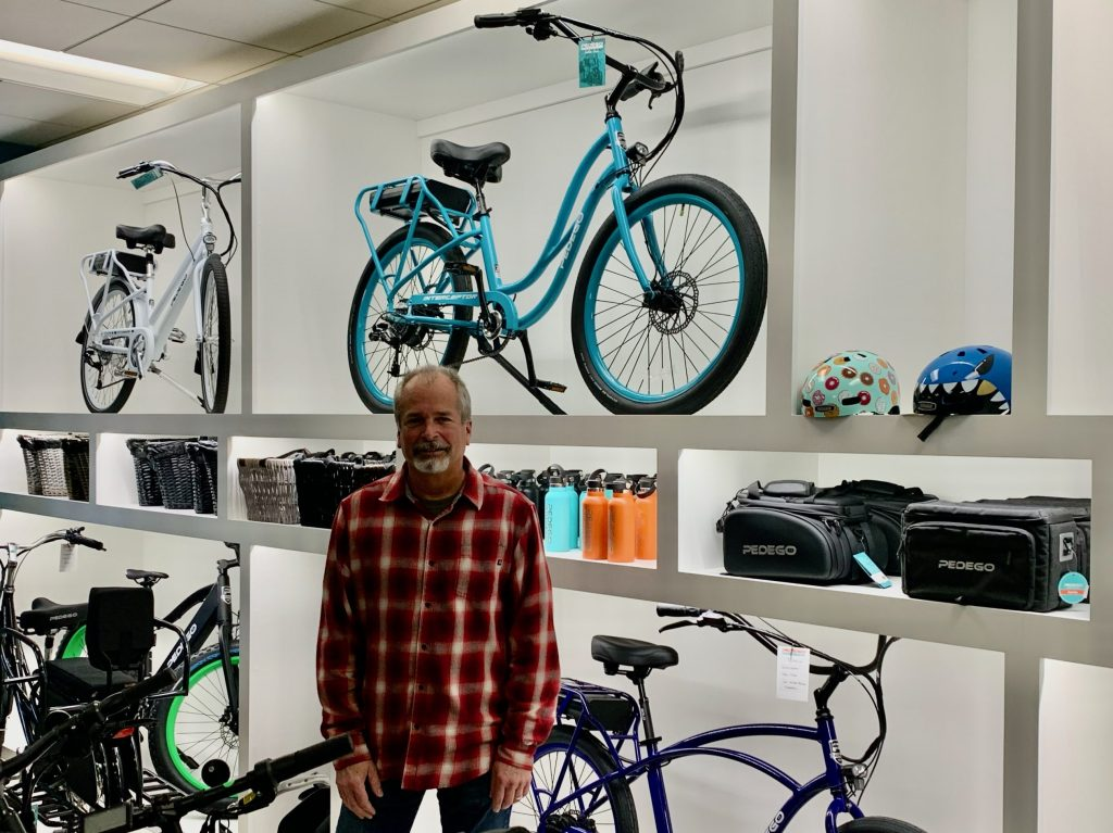 Jeff Scanlan opens electric bike store Pedego in downtown Menlo Park