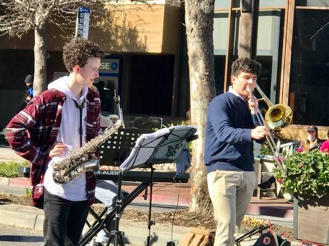 Spotted: Almost All Khaki playing jazz on Sunday