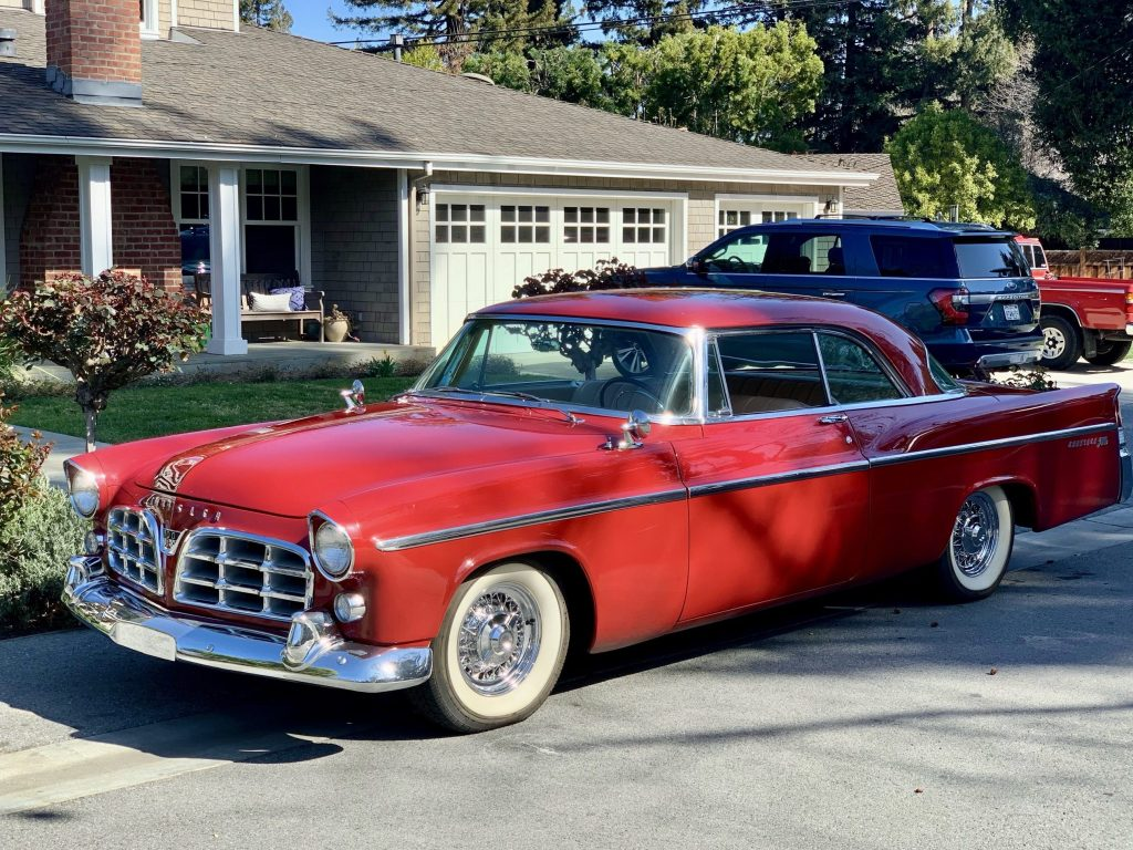 Spotted: Gorgeous red vintage Chrysler