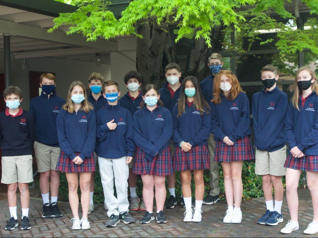 St. Raymond School students place second in Academic Decathlon
