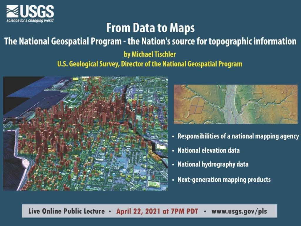 USGS public lecture on April 22 looks at the National Geospatial Program