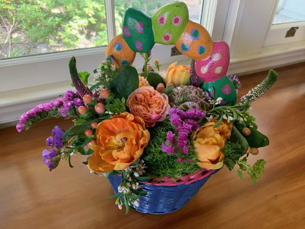 Family Easter basket flowers continue thanks to Menlo Botanica