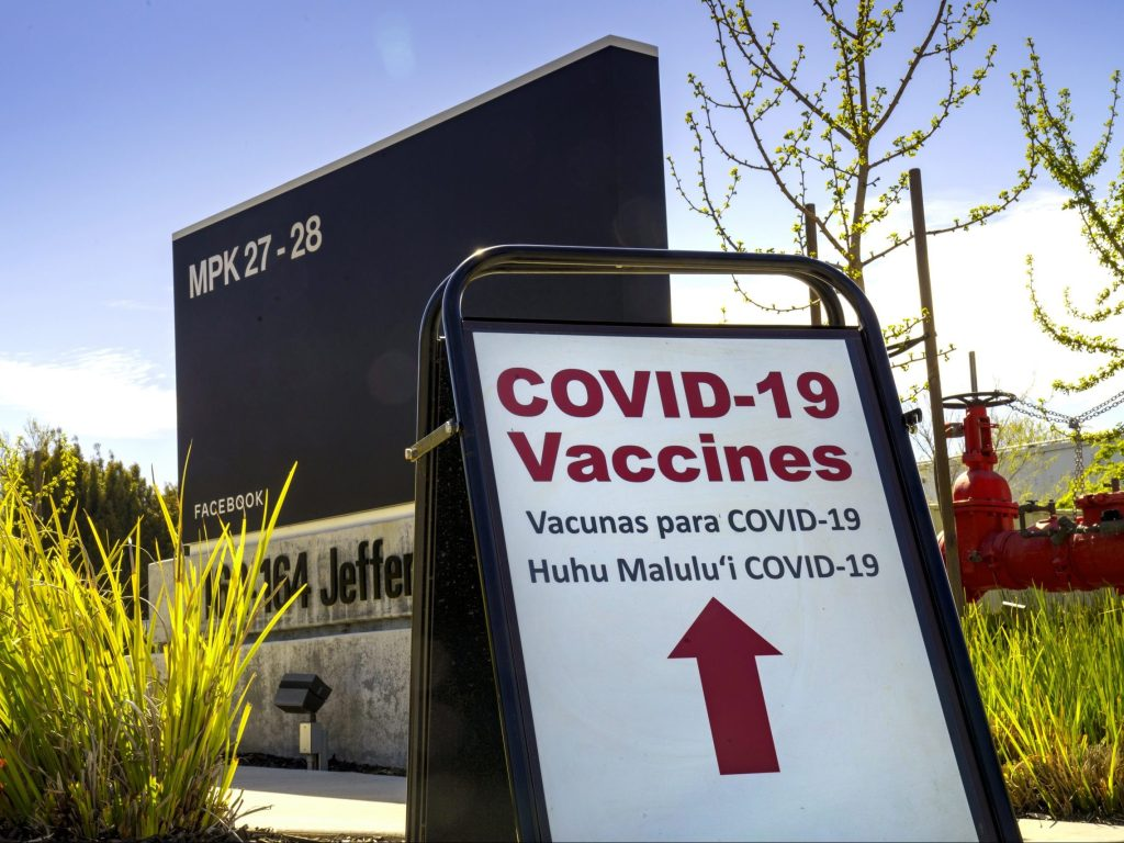 Facebook campus will be used to vaccinate underserved communities