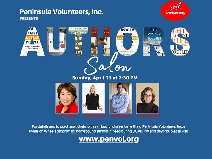 Peninsula Volunteers Inc presents 30th annual Authors Salon on April 11