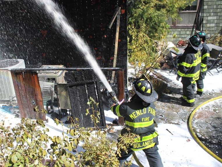 Menlo Fire knocks down fire at Stanford Weekend Acres home