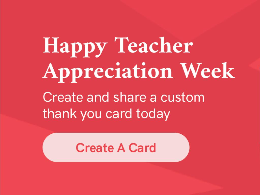 Create a custom thank you card for a special teacher