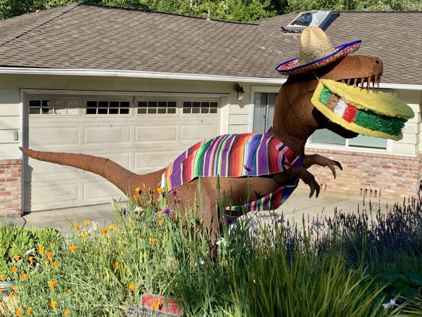Ladera dinos are festively dressed for Cinco de Mayo
