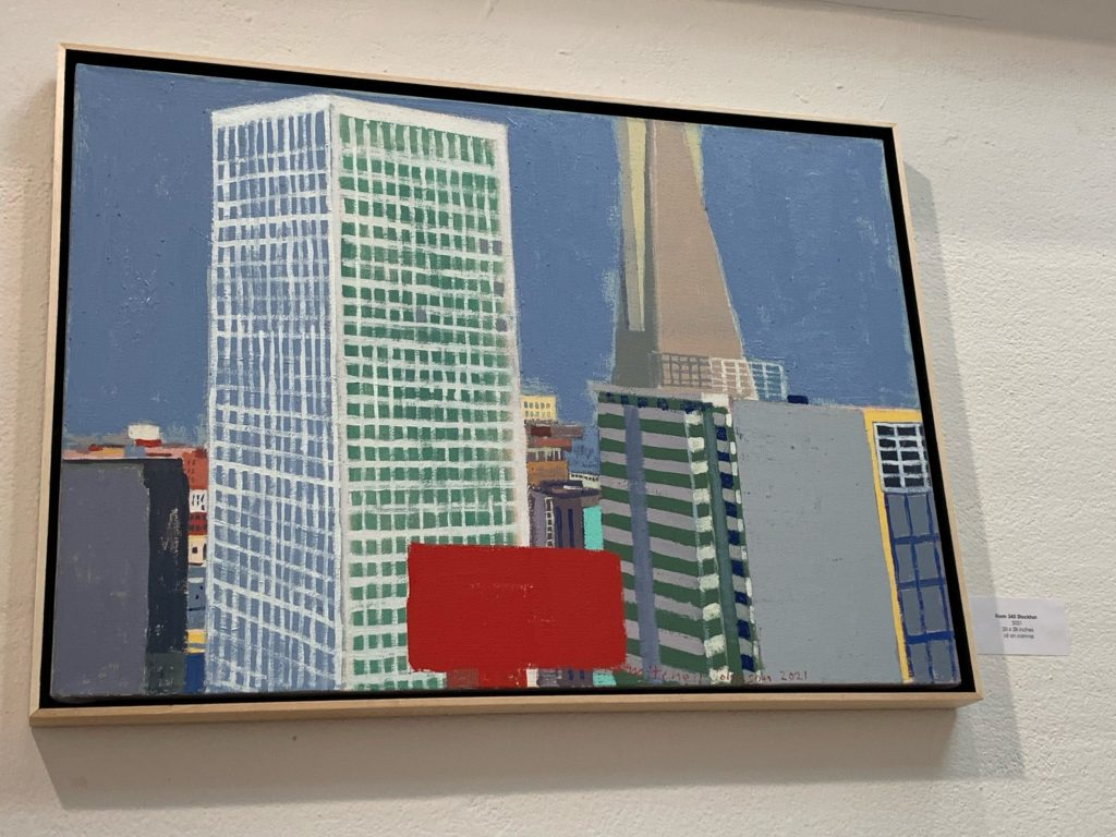 Spotted: Mitchell Johnson painting at Pamela Walsh Gallery
