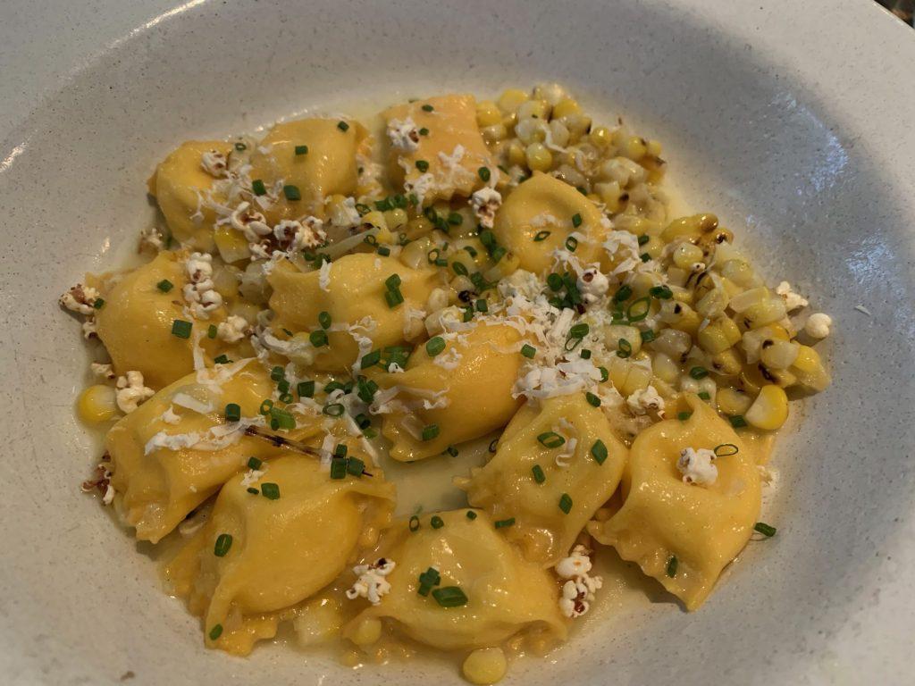 Spotted: Fabulous tasting Corn Agnolotti at Camper