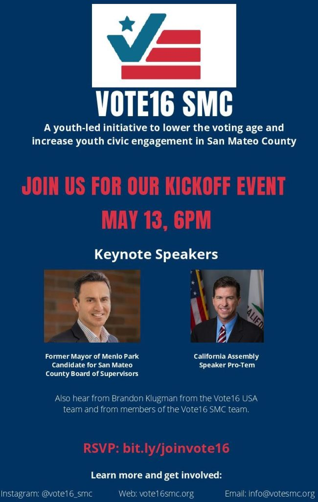 Vote16 SMC official kickoff is May 13