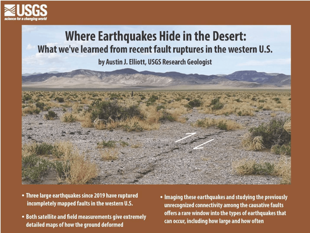 USGS public lecture examines desert earthquakes on May 27