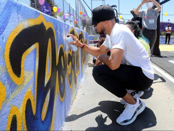 Ayesha and Stephen Curry unveil new playground at an Oakland school